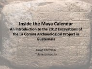 Inside the Maya Calendar An Introduction to the ... - Tulane University