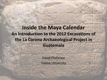 Inside the Maya Calendar An Introduction to the ... - Tulane University