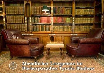 Abendlicher Lesegenuss im Bücherparadies Tyrolia Bludenz