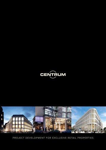Project develoPment for exclusive retail ProPerties - Centrum GmbH