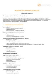 PROGRAMA CURSO DE NEGOCIACION COLECTIVA Negociación ...