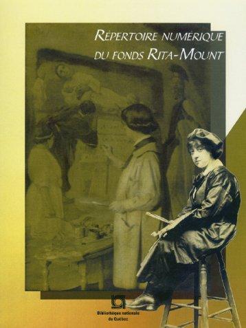 Répertoire numérique du fonds Rita-Mount - Bibliothèque et ...