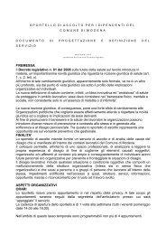 Progetto Sportello di ascolto - Comune di Modena