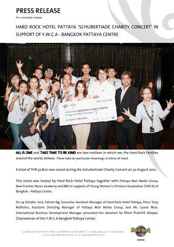 'schubertiade charity concert' in support of ywca - bangkok pattaya ...