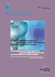 Programm Jahrestagung 2013 - SSRD