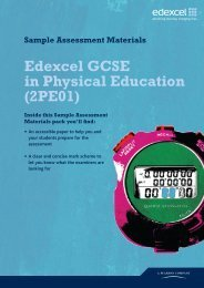 Sample exam paper and answers - William Ellis School
