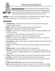Poetry Book Report [created by Mrs. Kucinskas]