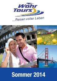 Download Hauptkatalog Sommer 2014 (PDF, 6.2 MB) - Wöhr Tours