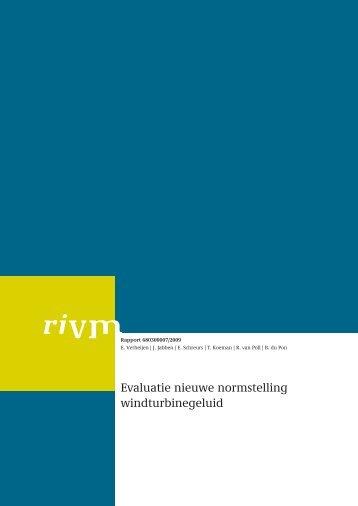 RIVM evaluatie nieuwe normstelling windturbinegeluid - NWEA