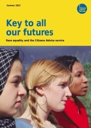 Key to all our futures [ 1.4 MB] - Citizens Advice