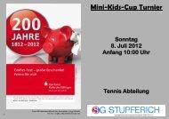 zum 10. Minikids-Cup Turnier der SG Stupferich am 8. Juli 2012