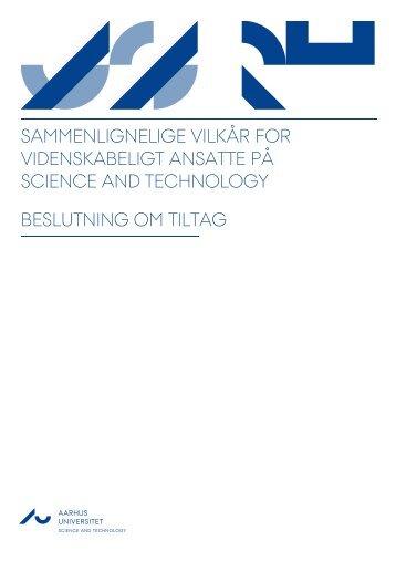 Sammenlignelige vilkår for videnskabeligt - www.au.dk - Aarhus ...