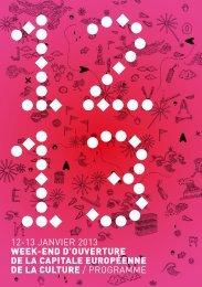 Programme du week end d'ouverture - Marseille Provence 2013