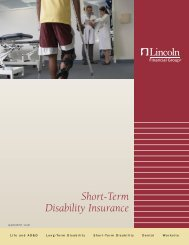 Short-Term Disability Insurance - Lincoln Financial Group