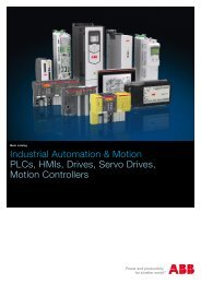 Industrial automation PLC, control panels, SCADA ... - Abb