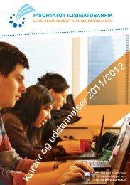 K urser og uddannelser 2011/2012 - Grønlands Handelsskole