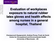 Evaluation of workplaces exposure to natural rubber latex ... - BOHS