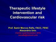 Therapeutic lifestyle intervention and Cardiovascular risk
