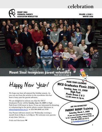 Happy New Year! - Mount Sinai Hospital