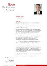 Stefan Riße - Econ Referenten-Agentur