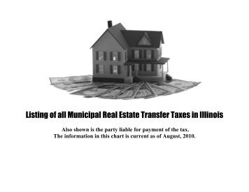 REAL ESTATE TRANSFER TAX FORM - City of Rolling Meadows