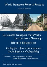 Sustainable Transport that Works: Lessons from ... - Eco-Logica