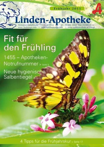 Frühjahr 2011 - Linden-Apotheke