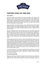 FASTING YOUR CAT AND DOG - Denes Natural Pet Care