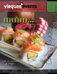 rollo de salmón y mangó - Vieques Events