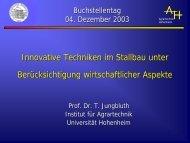 Vortrag - Herr Prof. Dr. Thomas Jungbluth