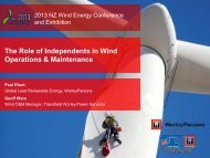 The Role of Independents in Wind Operations & Maintenance