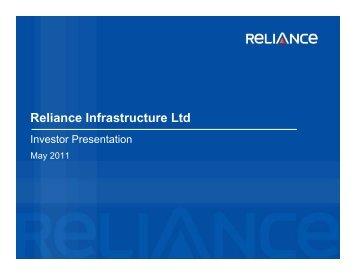 Presentation - Reliance Infrastructure