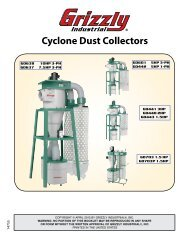 Cyclone Dust Collectors - Grizzly.com
