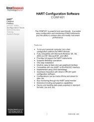 HART Configuration Software CONF401 - smarresearch