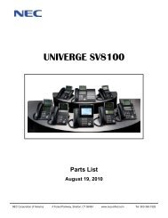 Multibutton Terminal Feature Handbook - NEC UX5000