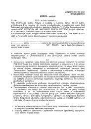 Załącznik nr 2 do siwz OP/MS/038/2012 UMOWA ... - PGE Dystrybucja