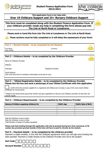 Daycare Application Forms