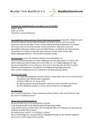 Protokoll 31.10.2013 - Stadtteilzentrum Buchforst