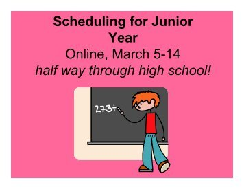 Scheduling for Junior Year - Christian Academy School System