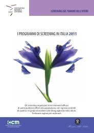 I PROGRAMMI DI SCREENING IN ITALIA2011 - Osservatorio ...