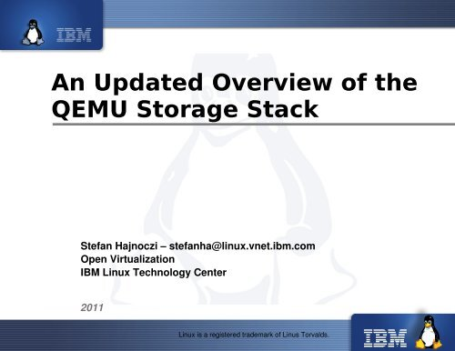 An Updated Overview of the QEMU Storage Stack - The Linux