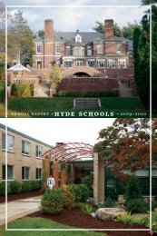 annual report • hyde schools • 2009–2010