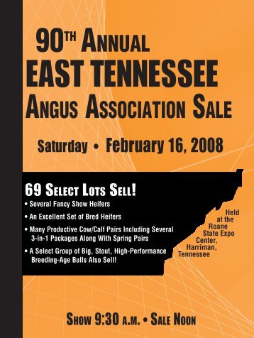 2008 east tennessee angus sale - Angus Journal