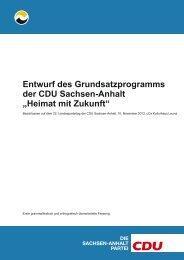 Entwurf des Grundsatzprogramms der CDU Sachsen-Anhalt