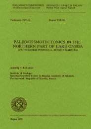 PALEOSEISMOTECTONICS IN THE NORTHERN PART OF LAKE ...
