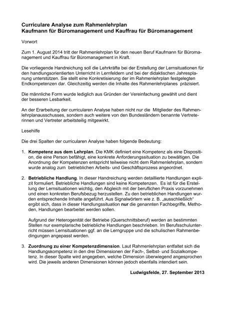 Entwurf Lehrplan Und Curriculare Analyse Fachpraxis In Hessen