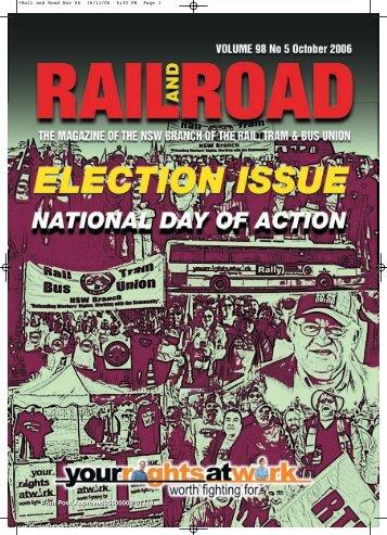 Down Load November 2006 Edition of Rail and Road