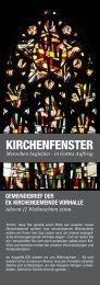 KIRCHENFENSTER - Kreuzkirche Vorhalle
