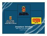 Investors' Briefing 2009 Total Year Performance - San Miguel ...