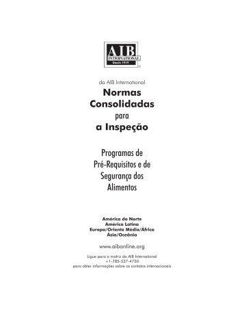 Normas Consolidadas para a Inspeção Programas de Pré ...